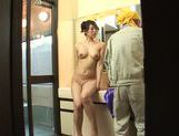 Appetising Japanese milf Kaori Otonashi enjoys cum on tits picture 1