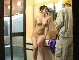 Appetising Japanese milf Kaori Otonashi enjoys cum on tits picture 2