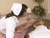 Kinu Misawa Asian babe Plays Nurse With Her Guy And Fucks Him picture 8