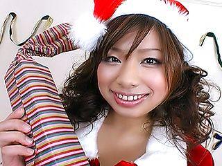 Ashai Karin Asian babe In Elf Costume Gets Fucked
