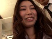 Pussy licking with naughty Natsume Inagawa