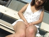Izumi Yamaguchi Hot Asian Babe Fingers Her Tight Pussy picture 6