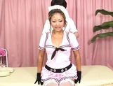 Ritsuko Fujiyama Lovely Asian doll gets her pussy teased