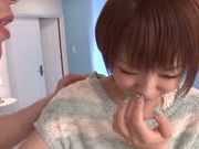 Teen with big tits Rika Hoshimi gets nailed hard