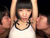 Petite caramel teen Ichigo Aoi gets pounded by young and old dudes