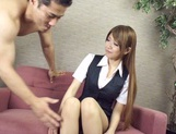 Busty Yuuka Minase gets creamed after a hard fuck