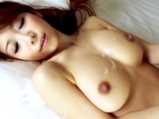 Busty Yuuka Minase gets creamed after a hard fuckasian babe, japanese sex}
