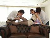 Young Asian Miu Nagino gets nailed in threesome