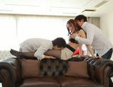 Young Asian Miu Nagino gets nailed in threesome picture 12