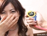 Ran Monbu Hot Japanese babe Gets A Massive Facial picture 1