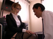 Girl with glasses, Tia, is fucked in perfect hardcore