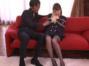 Pretty chick Akiho Yoshizawa enjoying some group sex