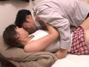 Pretty Asian Haru Sasaki headfuck and doggystyle