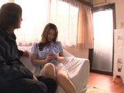 Busty MILF Mayuka Okada Masturbates While He Watches