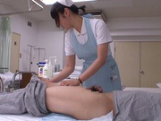 Sexy nurse Mashiro Ayase cock sucking a patient