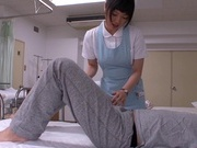Sexy nurse Mashiro Ayase cock sucking a patientasian ass, young asian}