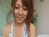 Chizuru Morill Naughty Asian babe Masturbates