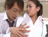 Tender Japanese teacher Karen Aoki enjoys multiple cumshots picture 11