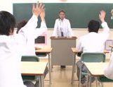 Tender Japanese teacher Karen Aoki enjoys multiple cumshots