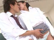 Tender Japanese teacher Karen Aoki enjoys multiple cumshots