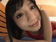 Sexy Japanese hottie Hitomi Miyano enjoys cock in pussy