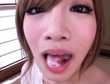 Cock sucking Asian beauty Erika Shibasaki loves to swallowasian ass, asian babe}