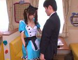 Aino Kishi Asian babe gives a hot blowjob picture 11