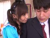 Aino Kishi Asian babe gives a hot blowjob picture 14