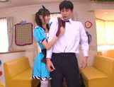 Aino Kishi Asian babe gives a hot blowjob picture 15