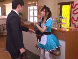 Aino Kishi Asian babe gives a hot blowjob picture 3