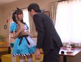 Aino Kishi Asian babe gives a hot blowjob picture 7
