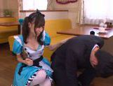 Aino Kishi Asian babe gives a hot blowjob picture 8
