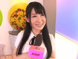 Dark-haired Japanese sex doll Rin Suzune gets poked and nailed