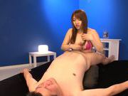 Busty asian milf Shiori Kamisaki is horny and eager