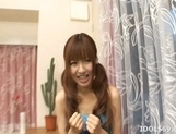 Aisaki Kotone Lovely Asian Teen Gives Great Handjobs And Head