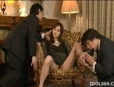 Mei Haruka Naughty Asian babe Gets Fucked With Two Horny Guys picture 2