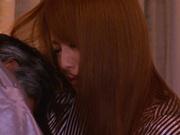 Cum in mouth of horny milf Akiho Yoshizawa