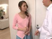 Saya Minami loves to swallow when she sucks cock