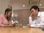 Saya Minami loves to swallow when she sucks cock
