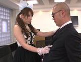 Beautiufl Yui in sexy suit giving a very sexy handjob right here picture 12
