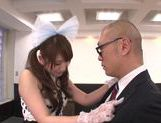 Beautiufl Yui in sexy suit giving a very sexy handjob right here picture 15