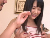 Creamed pussy of Tsuma Kimura satisfies her picture 1