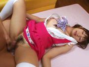 Sexy Asian maid Rio Ogawa pleases her horny bosscute asian, asian babe}
