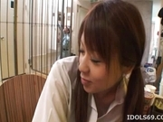 Chizuru Morill Naughty Schoolgirl Gets Her Pussy Fucked HArd By Older Guy