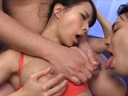 Glamorous girl with big milking tits Ema Kisaki in a group actionhorny asian, asian babe}