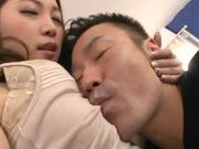 Bubble butt Japanese milf Asami Ogawa enjoys doggystyle fuck