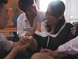 Rika Fujishita hot mature babe is all in for a foursome