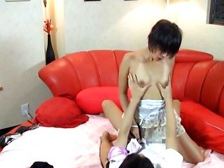 Hot and kinky Japanese milf spreads legs for hard fuck