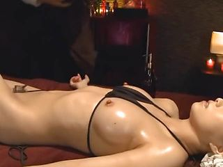 Hot juicy Asian milf gets her flawless body teased and banged