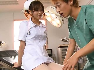 Hot nurse Nono Mizusawa plays naughty with horny patient